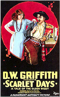 <i>Scarlet Days</i> 1919 film by D. W. Griffith