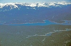 Trinity Lake - View of Trinity Lake.