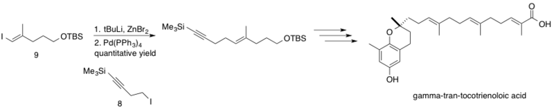 Synthesis of δ-trans-tocotrienoloic acid