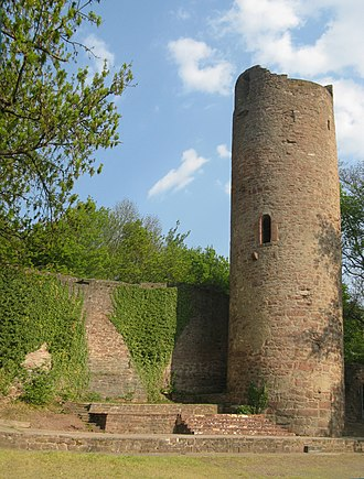 Elevated entrance - Elevated entrance of the bergfried of Scherenburg Castle
