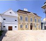 Museum, Schlössl including farm buildings, gate and putto