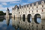Catherine had two galleries built on Diane's bridge over the Cher River at Chenonceau