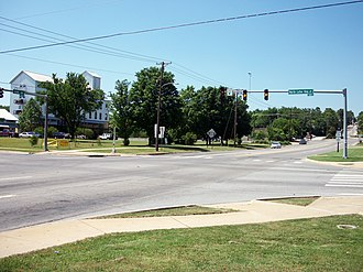 Special routes of U.S. Route 71 - Image: School Ave intersecting MLK Blvd, Fayetteville, AR