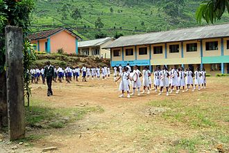 Badulla District - A school in Badulla district