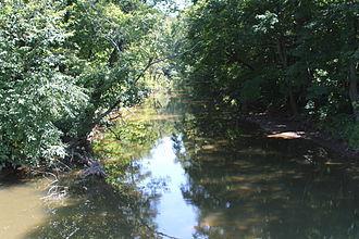 Schwaben Creek - Schwaben Creek in its lower reaches