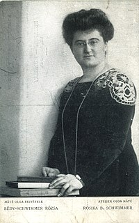 Rosika Schwimmer Hungarian-born activist