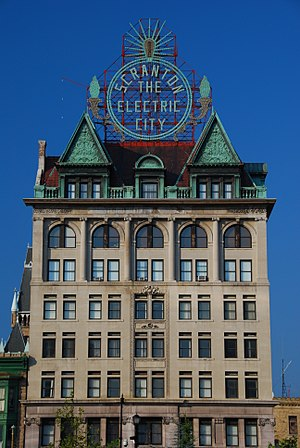 English: Scranton Electric Building, downtown ...