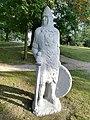 Sculpture in Wagrowiec (lake) (rycerz).jpg
