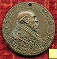 Scuola romana, medaglia di gregorio XIII, 1575, giubileo, busto.JPG