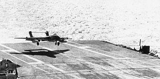 892 Naval Air Squadron - An 892 Sqn Sea Vixen FAW.1 from HMS Hermes (R12) landing aboard USS Ranger (CVA-61), 1963.