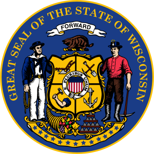 English: Great Seal of the state of Wisconsin