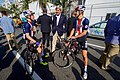 Secretary Kerry Chats With U.S. Mens Cyclists Before the Start of A Race (28772463636).jpg