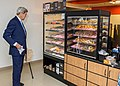 Secretary Kerry Considers His Options as he Prepares to Buy Hometown Dunkin' Donuts in the State Department Cafeteria (21148814091).jpg
