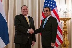 Secretary Pompeo Meets With Thai Prime Minister Prayut Chan-o-cha (48437845741)