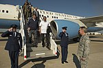 Secretary of Defense Ash Carter and India's Minister of Defense Manohar Parrikar arrive at Langley Air Force Base.jpg