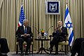 Secretary of Defense Chuck Hagel meets with Israeli President Shimon Peres in Jerusalem, April 22, 2013.jpg