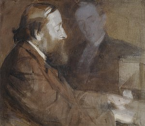 Sedley Taylor - Sedley Taylor painted by Margaret Bernadine Hall, 1898