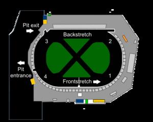 Seekonk Speedway - Image: Seekonk Speedway track map