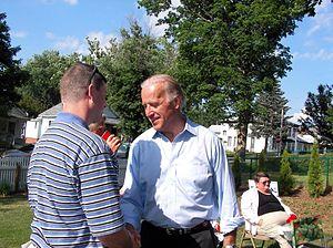 Joe Biden presidential campaign, 2008 - Biden campaigning at a Creston, Iowa house party, July 2007