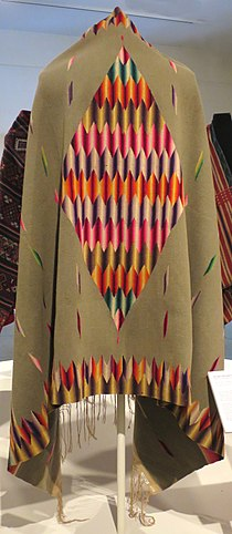 Serape (blanket) from Mexico, Honolulu Museum of Art 13284.1.JPG
