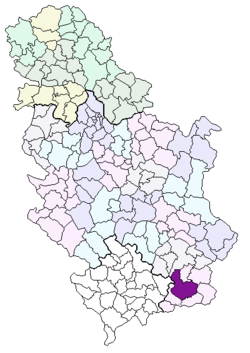 karta srbije vranje Vranje (općina) – Wikipedija karta srbije vranje