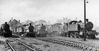 Severn Tunnel Junction railway station - Severn Tunnel Junction Locomotive Depot in 1951