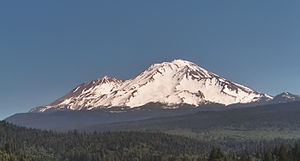 Dunsmuir, California - Mount Shasta as viewed from Dunsmuir