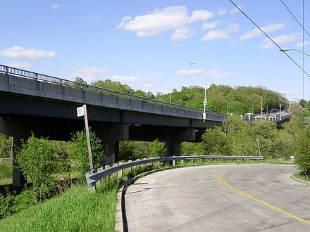 Sheppard Avenue West over West Don near Bathurst Street Sheppard Avenue Bridge.jpg