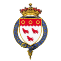 Shield of arms of Francis Cowper, 7th Earl Cowper, KG, PC, DL.png