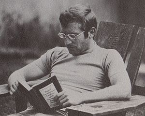 Joseph Robson Tanner - Student reading Tanner's English Constitutional Conflicts at Shimer College in 1973.