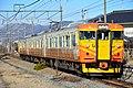 Shinano Railway 115 series Tanaka Station (32606917877).jpg