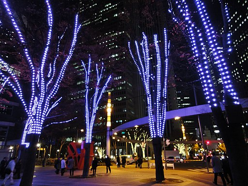 Shinjuku i-Land Tower- Christmas Illumination 2011 (6559267003)