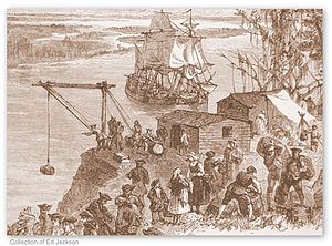 James (ship) - The unloading of the James, 1733