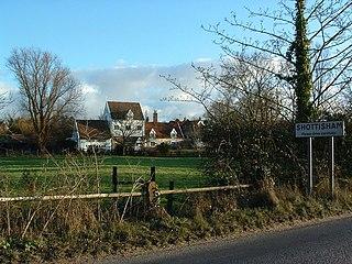 Shottisham village in the United Kingdom