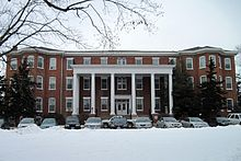 Sibley Hall after snowfall