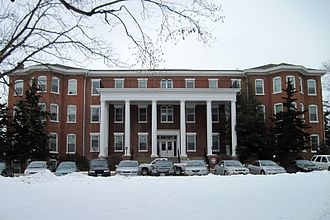 Lindenwood University - Historic Sibley Hall on the Lindenwood University campus after a fresh snowfall in 2011