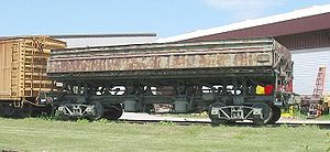 Gondola (rail) - A side-dump gondola on display at the US National Railroad Museum