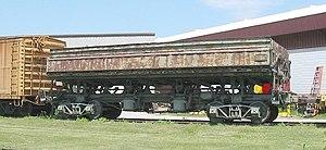 Gondola (rail) - A side-dump gondola on display at the US National Railroad Museum