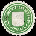 Siegelmarke Bürgermeister der Stadt Schalkau W0386029.jpg