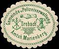 Siegelmarke Gemeinde- und Polizeiverwaltung Drebach Amtsh. Marienberg W0314238.jpg