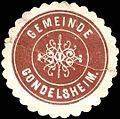 Siegelmarke Gemeinde Gondelsheim W0237299.jpg