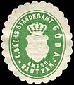 Siegelmarke Königlich Sächsisches Standesamt Göda - Amtshauptmannschaft Bautzen W0252212.jpg