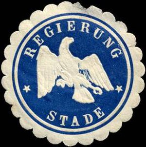Stade (region) - Sealing stamp of the Stade Region, Weimar period