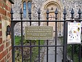 Sign on the gate - geograph.org.uk - 1706825.jpg