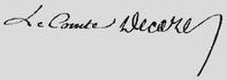 Élie, duc Decazes - Image: Signature comte Decazes