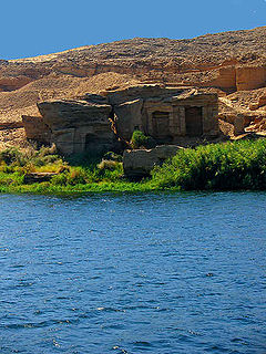 Gebel el-Silsila Place in Aswan Governorate, Egypt
