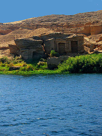Stone quarries of ancient Egypt - Rock temples cut directly in the rocks at the Silsileh quarrying site, near Aswan