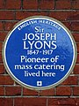 Sir Joseph Lyons 1847-1917 Pioneer of mass catering lived here.jpg