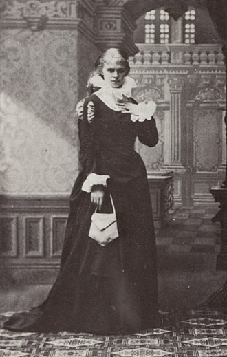 August Strindberg - Strindberg's first wife, Siri von Essen, as Margit in Sir Bengt's Wife (1882) at the New Theatre.