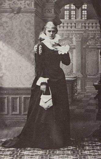 August Strindberg - Strindberg's first wife, Siri von Essen, as Margit in Sir Bengt's Wife (1882) at the New Theatre.